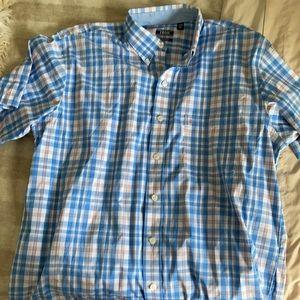 IZOD Men's Short Sleeve button down - Large